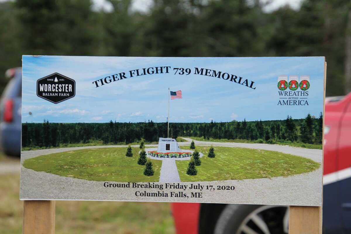 A photo rendering depicts what Flying Tiger Line Flight 739 Memorial will look like when its unveiled Saturday, May 15.