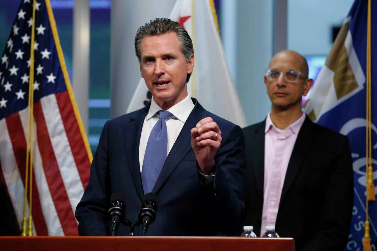 Gov. Gavin Newsom is setting a new vaccination verification system for state employees and health care workers.