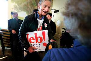In this Feb. 10, 2016, photo, Jonathan Bush, talks at a campaign event for his nephew, former Florida Gov. Jeb Bush.