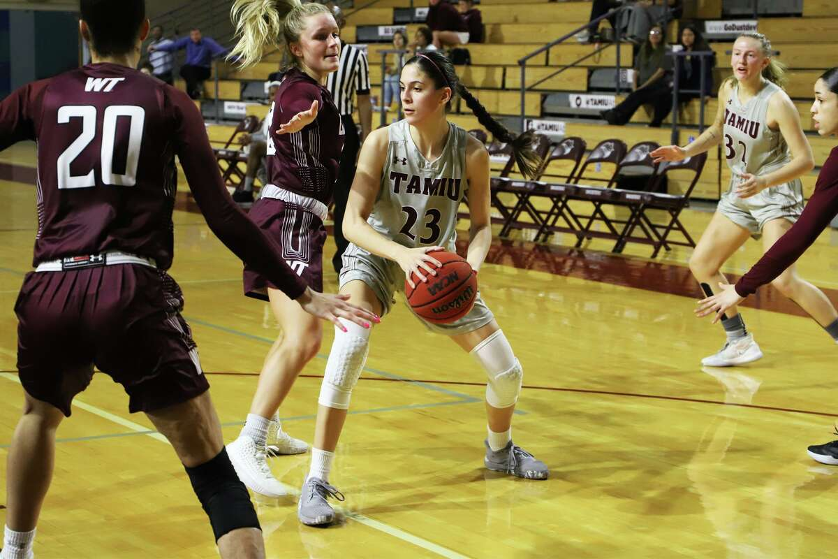 TAMIU's Nicole Heyn averaged 14.3 points and 9.7 rebounds this season and was named the Lone Star Conference Defensive Player of the Year.
