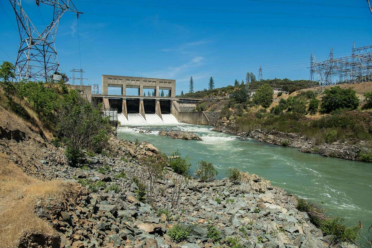 Keswick Dam downstream from Shasta Dam on the Sacramento River. The state water board has OK a plan for water releases into the river that could kill off an entire run of endangered chinook salmon.