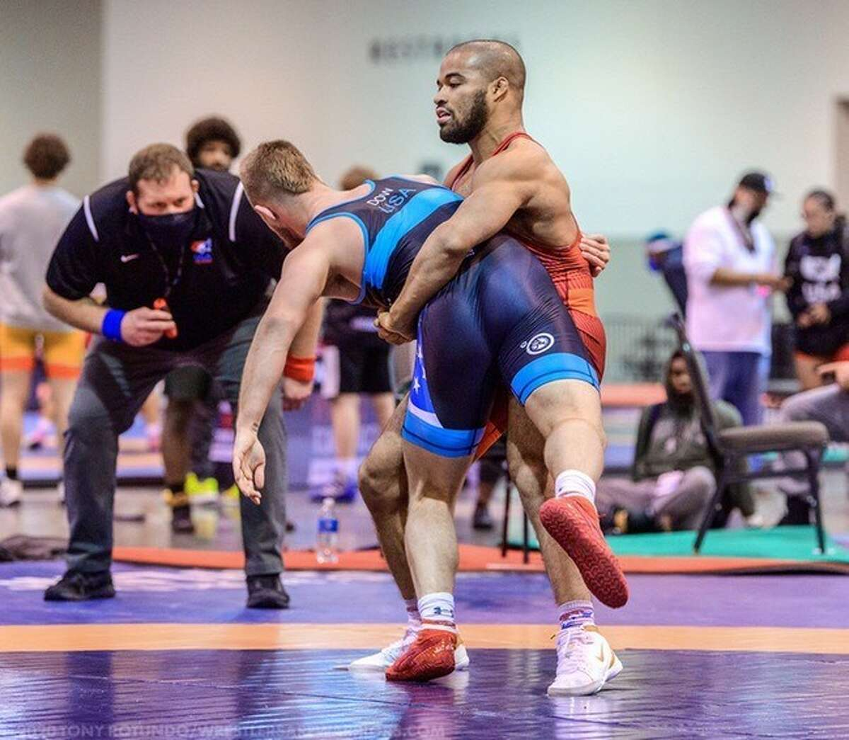 Shenendehowa graduate Jesse Porter, training at Northern Michigan University, lost in the second round at World Olympics Qualifier in Bulgaria. (Courtesy of Northern Michigan University)