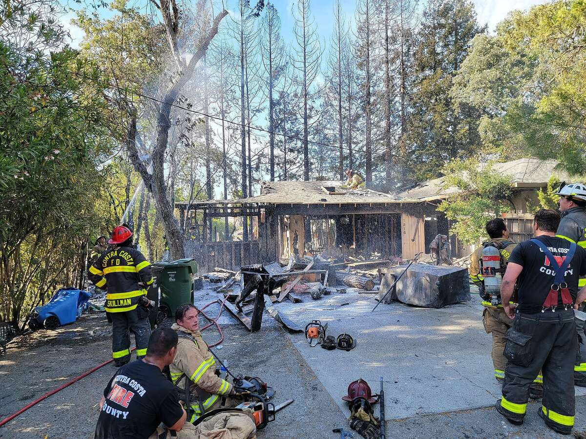This photo, provided by the Contra Costa County Fire Protection District, shows a senior care facility on the 1500 block of Castle Hill Road in Walnut Creek that caught fire on Thursday, May 6, 2021.