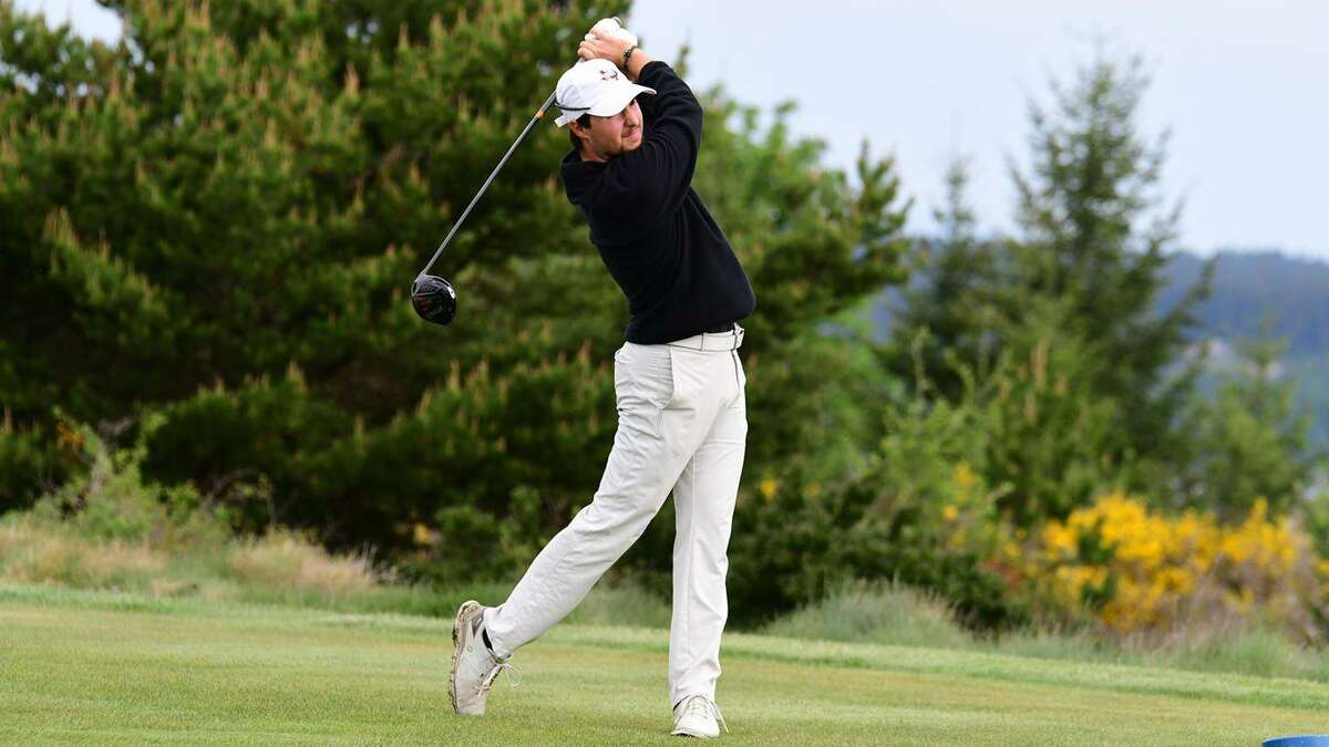 TAMIU's Parker Holekamp birdied two of the final three holes Thursday to pull into a tie for fourth after the opening round of the NCAA South Central/West Super Regional.