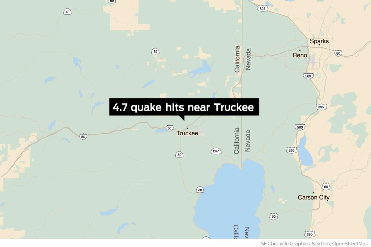 A 4.7 quake struck the Truckee area on Thursday night.