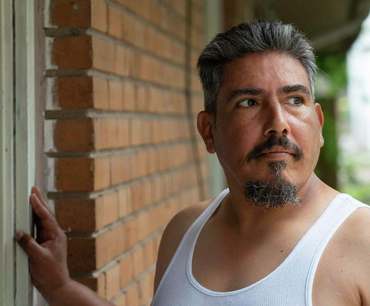 Mario Martinez is a long-time resident of a permitted boarding home called the Willing Workers Club, Tuesday, April 27, 2021, in Houston. He is among the demographic most impacted by negligent boarding home operators, officials say. Cities and counties currently do not have any criminal recourse against boarding homes that are being operated without a permit.
