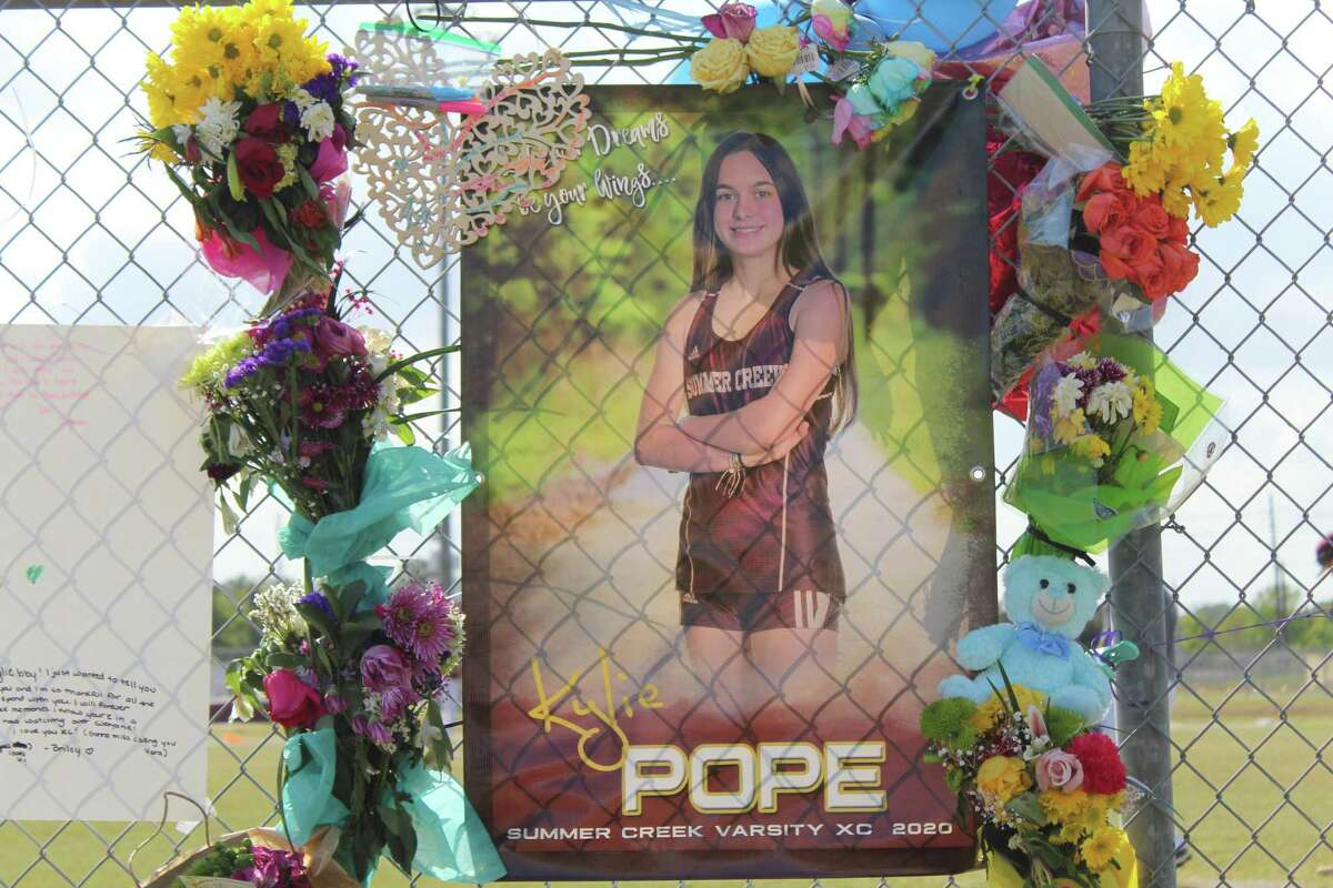 Summer Creek freshman runner Kylie Pope passed away in a tragic accident on April 3. Her Summer Creek boys and girls teammates on the track team will be honoring her at the state meet.