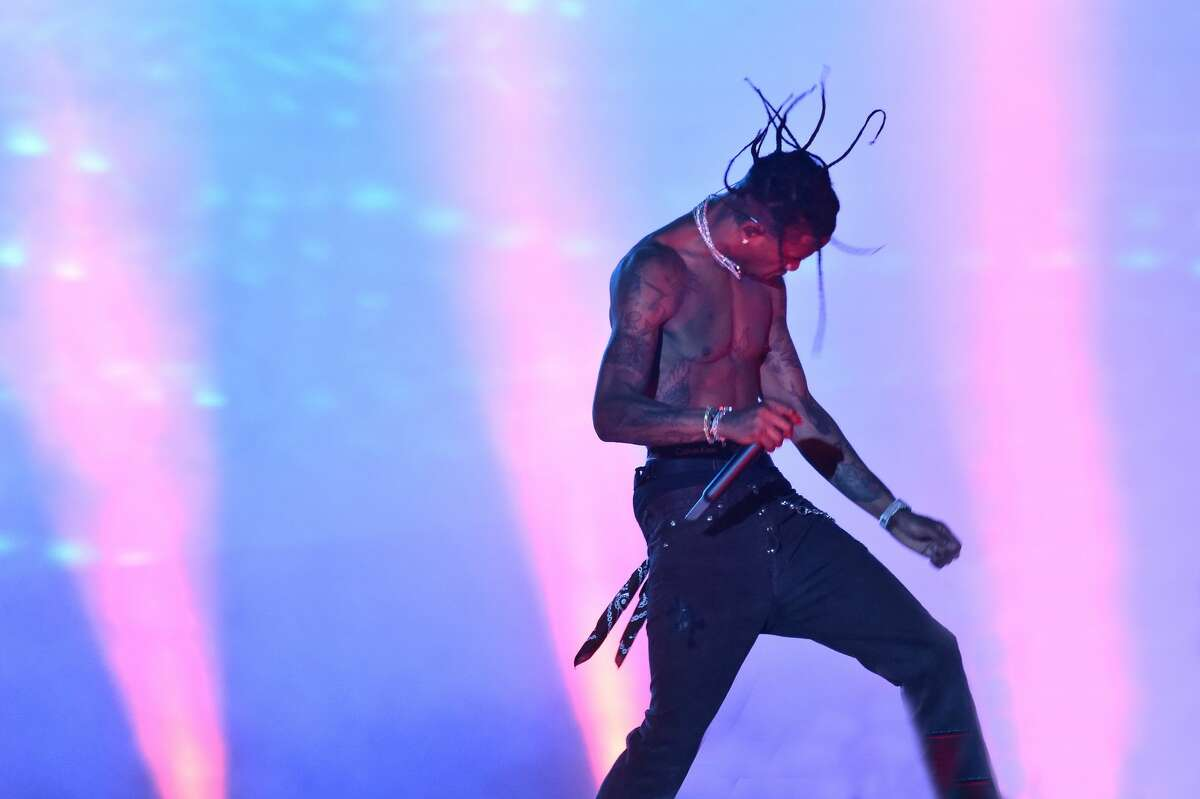 Travis Scott performs during the 2019 Rolling Loud music festival at Citi Field on October 12, 2019 in New York City. (Photo by Steven Ferdman/Getty Images)
