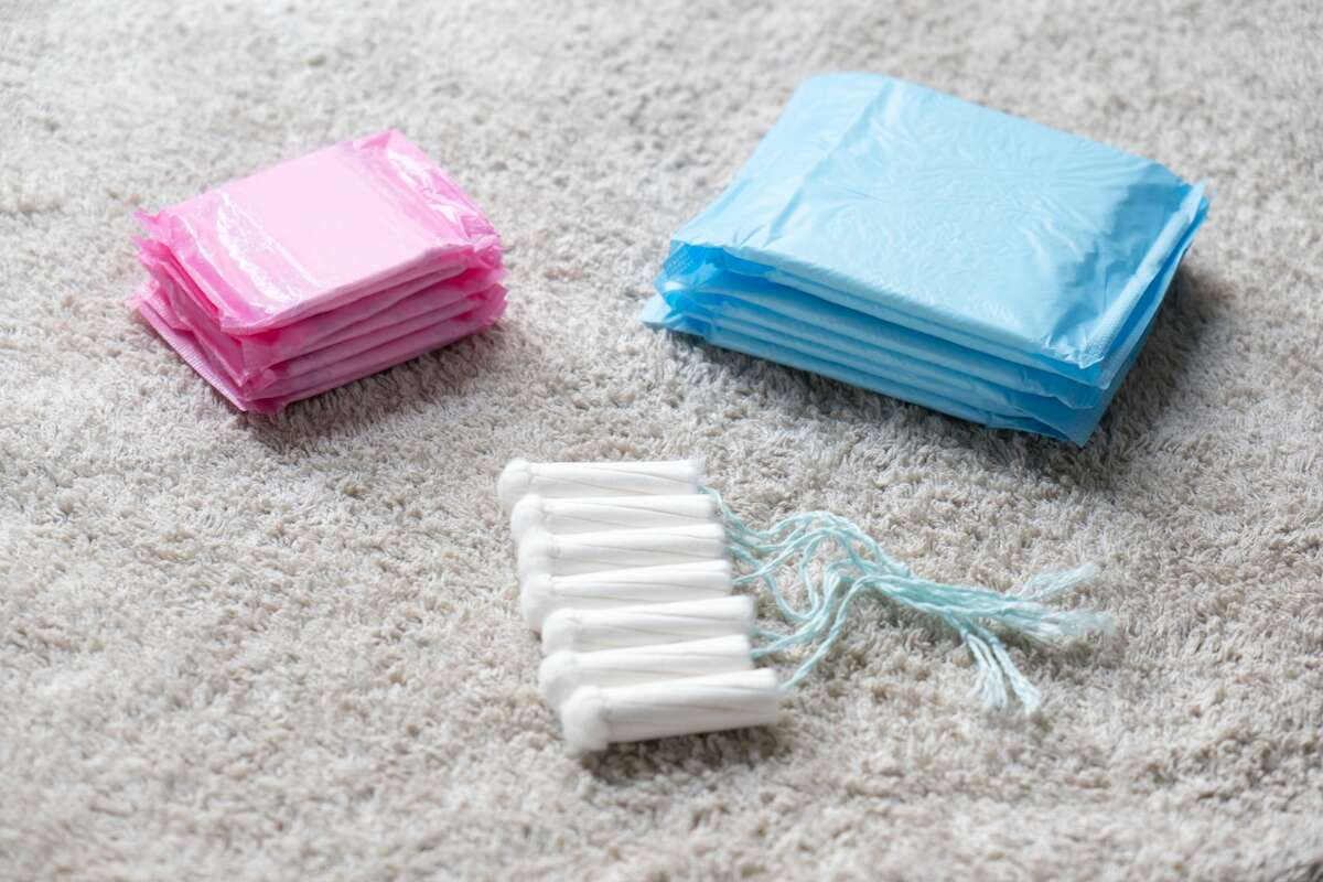 Menstrual tampons and pads.