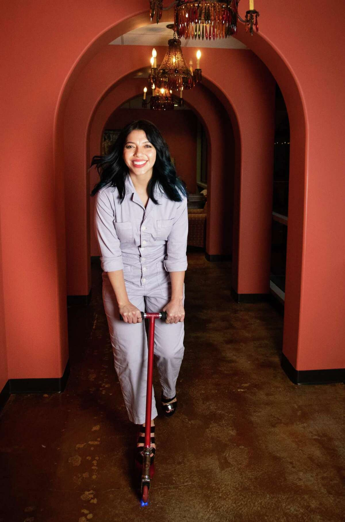 Lopez Negrete art director Karem García-Loera, 30, looks forward to the opportunity to work on the same space with her colleagues, Friday, April 30, 2021, in Houston.