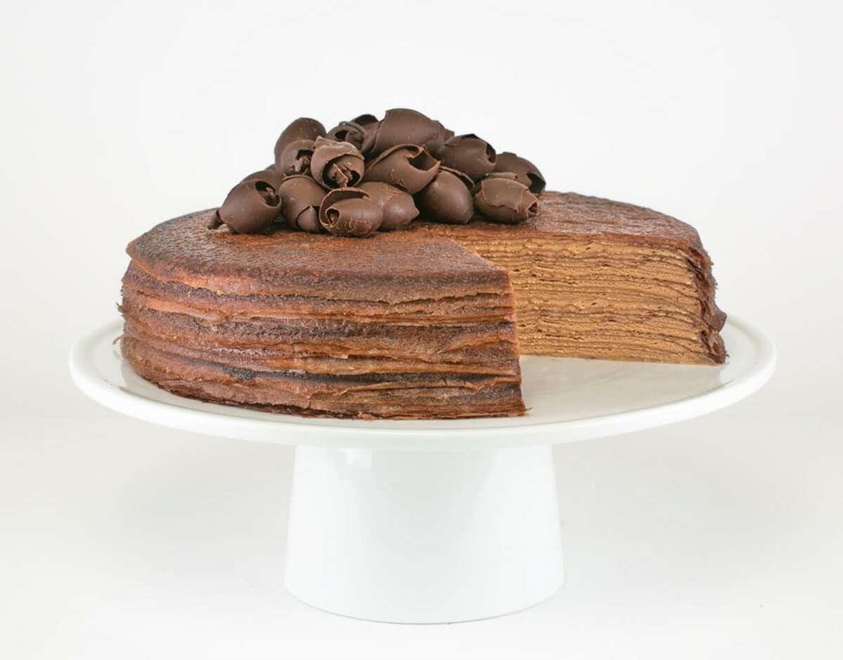 Chocolate Mille Crepe Cake