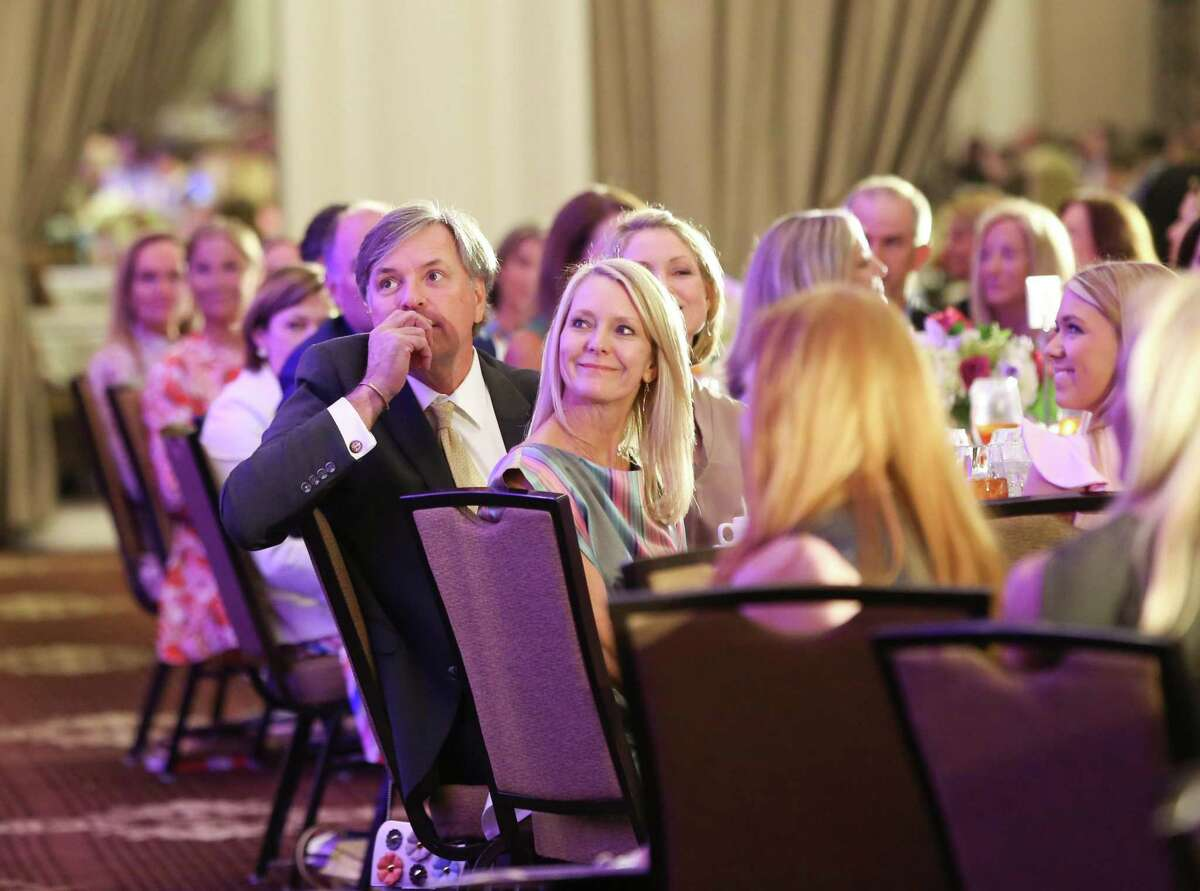 Luncheon attendees listen as Kennedy advocates for more resources and empathy for those dealing with a mental disorder for the first time.