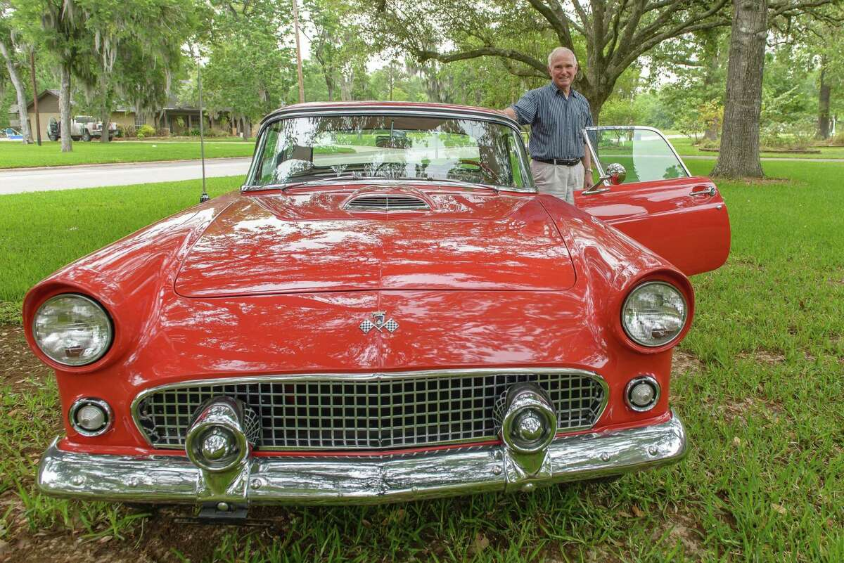 Better bring sunglasses if you come to the Friendswood Chamber of Commerce's annual Classic Car and Bike Show on May 15! Harod Benson brought this shiny 1955 Ford T-bird to the show in 2015.