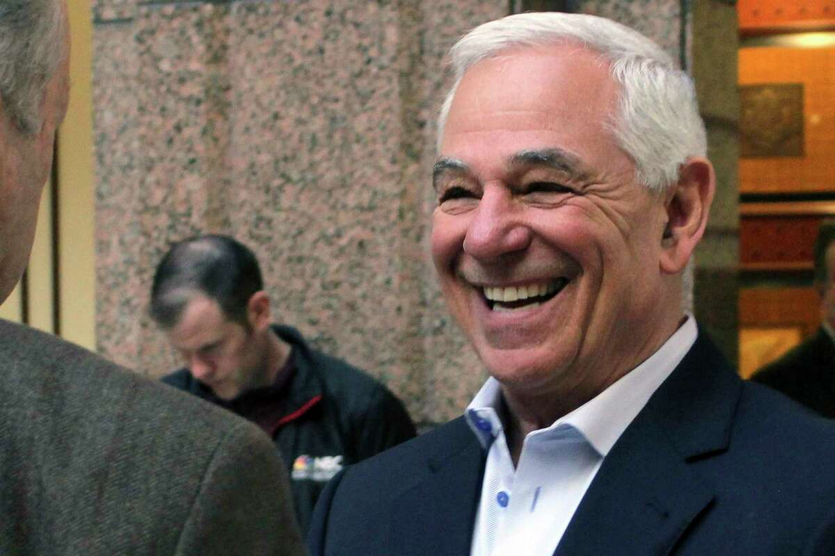 FILE - In this Feb. 26, 2019 file photo, former Major League Baseball player and manager Bobby Valentine waits to testify at the Capitol in Hartford, Conn. Valentine, 70, is entering politics, announcing Friday, May 7, 2021 that he is running for mayor of Stamford, Conn. (AP Photo/Pat Eaton-Robb, File)
