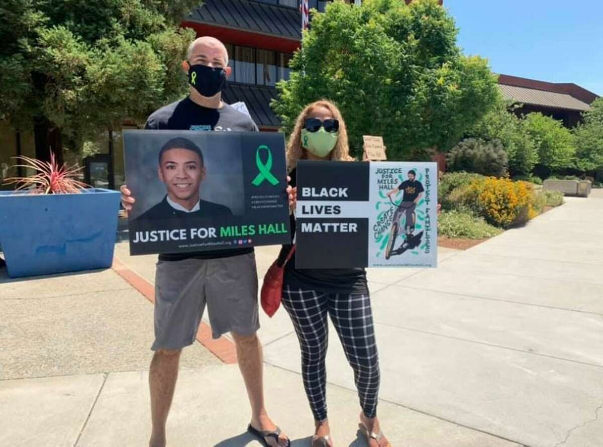 Scott and Taun Hall sued the Walnut Creek Police Department after the June 2019 fatal shooting of their son, Miles Hall. The Contra Costa District Attorney's Office has determined the shooting to be legally justified.