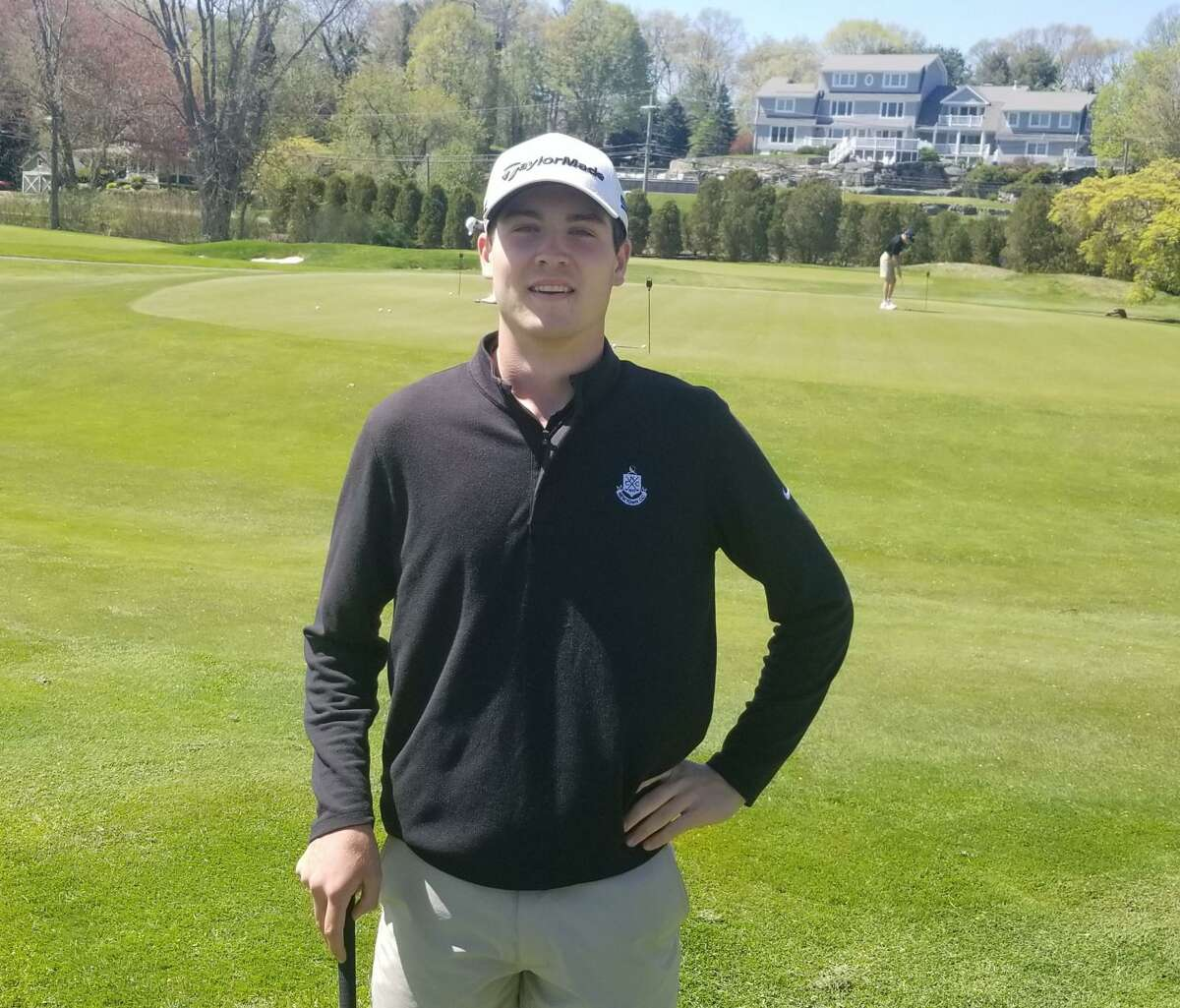 Senior Kyle St. Pierre is the No. 1 golfer in Shelton's lineup.