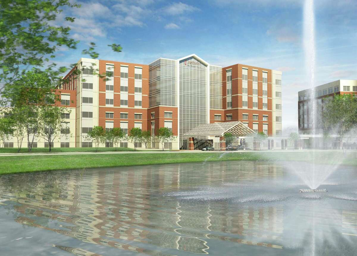 The new Houston Methodist Cypress hospital will be modeled after two previous greenfield campuses, Houston Methodist West and Houston Methodist The Woodlands. This rendering is from the Houston Methodist West campus.