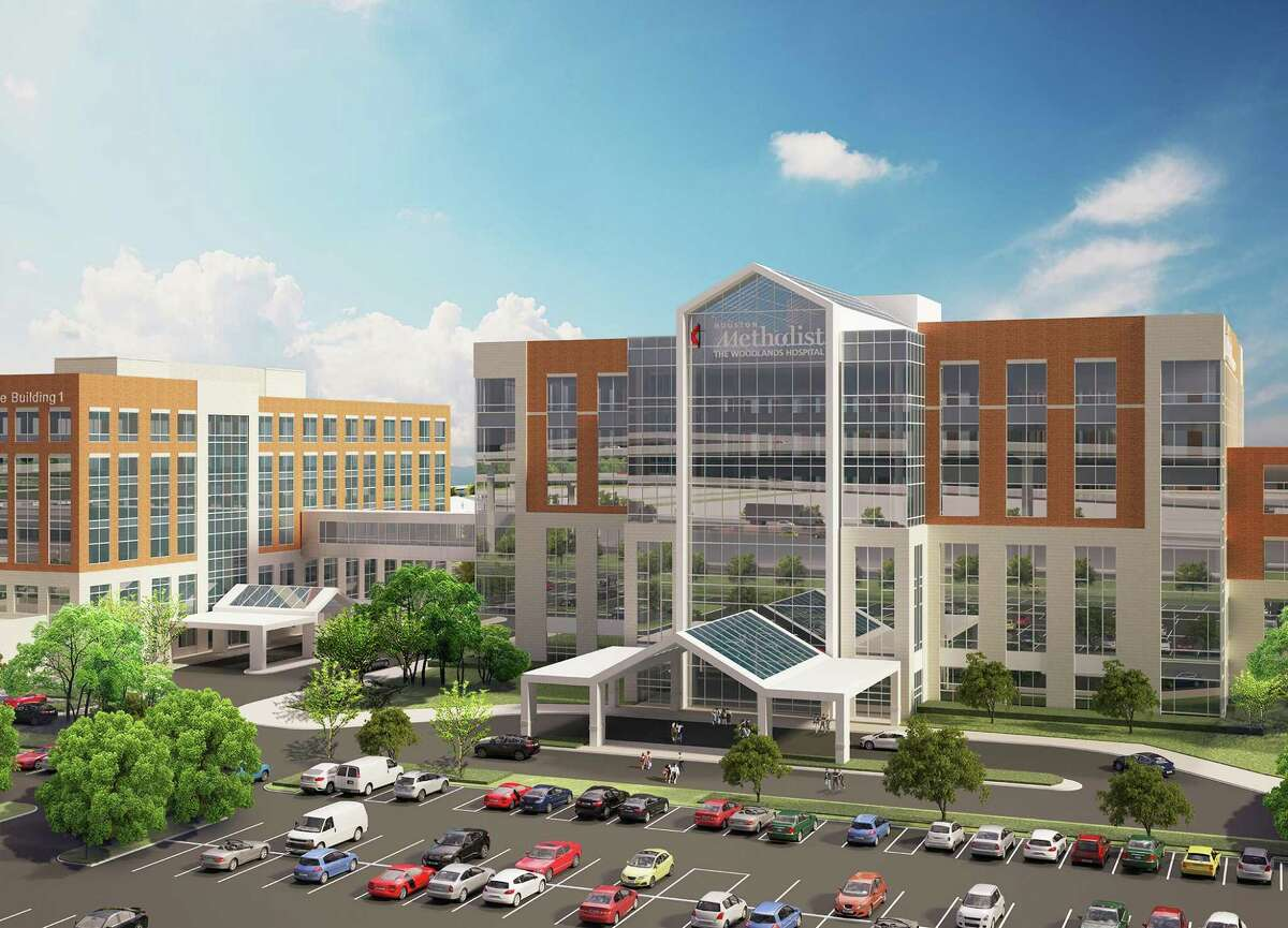 The new Houston Methodist Cypress hospital will be modeled after two previous greenfield campuses, Houston Methodist West and Houston Methodist The Woodlands. This rendering is from the Houston Methodist The Woodlands campus.