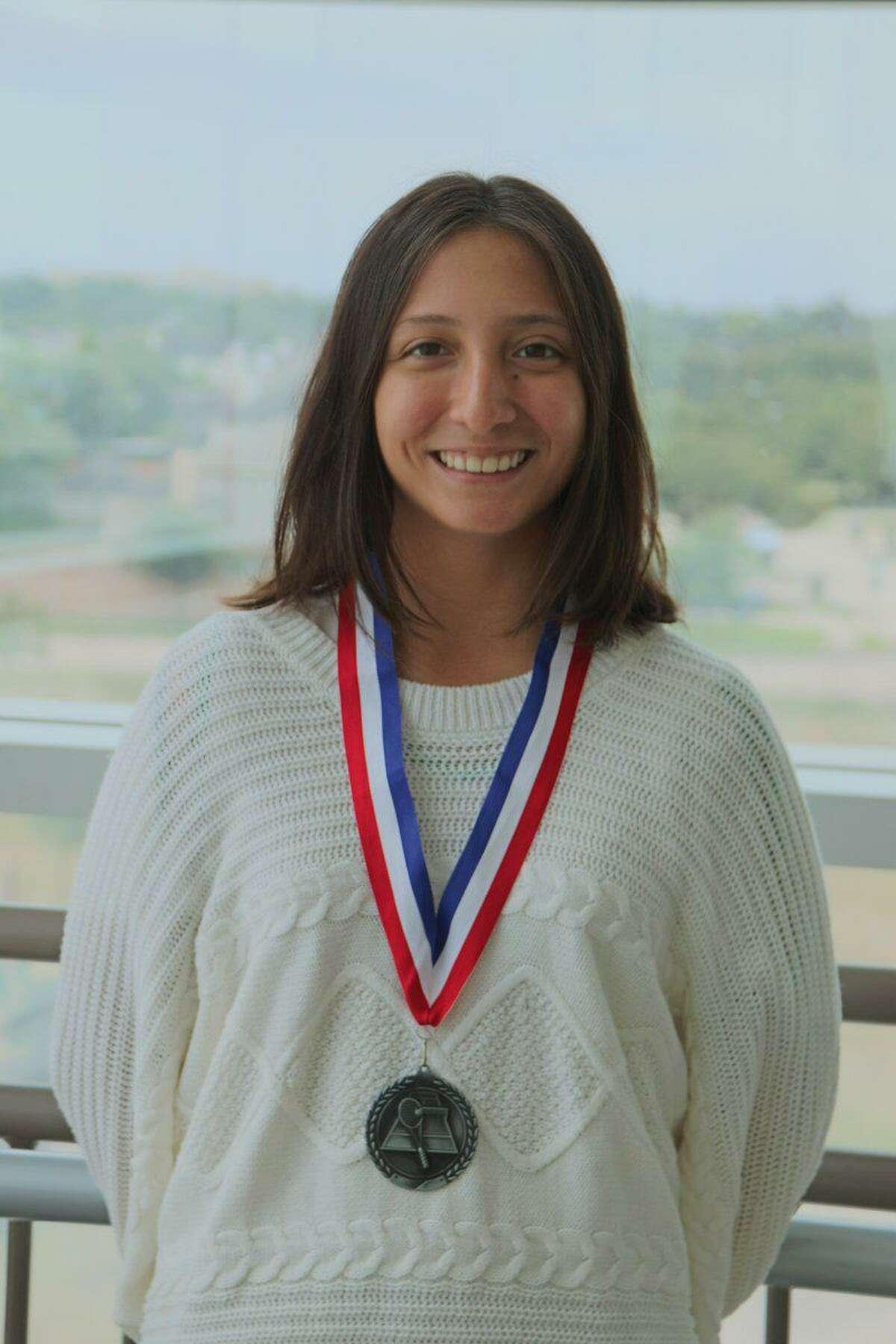 British International School senior Miranda Jimenez was the school's first state tennis qualifier, advancing to the final four in the TAPPS 5A girls singles bracket.