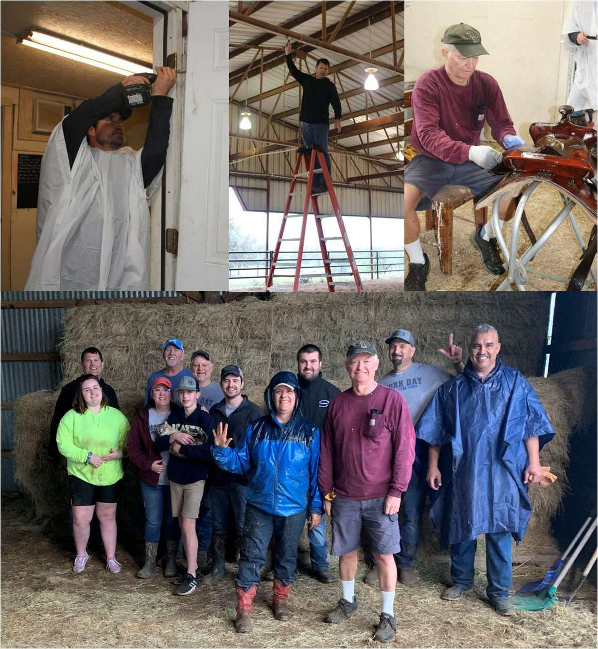 Despite nasty weather members of the Conroe Noon Lions Club made their annual trek to the Texas Lions Camp in Kerrville last week for Work Weekend. There they completed work tasks in preparations for summer camping sessions for physically handicap, diabetic and children with Downs syndrome.