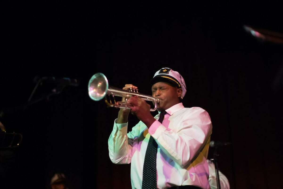 Michael Jones performs during the Fillmore Heritage Center open house in 2018.