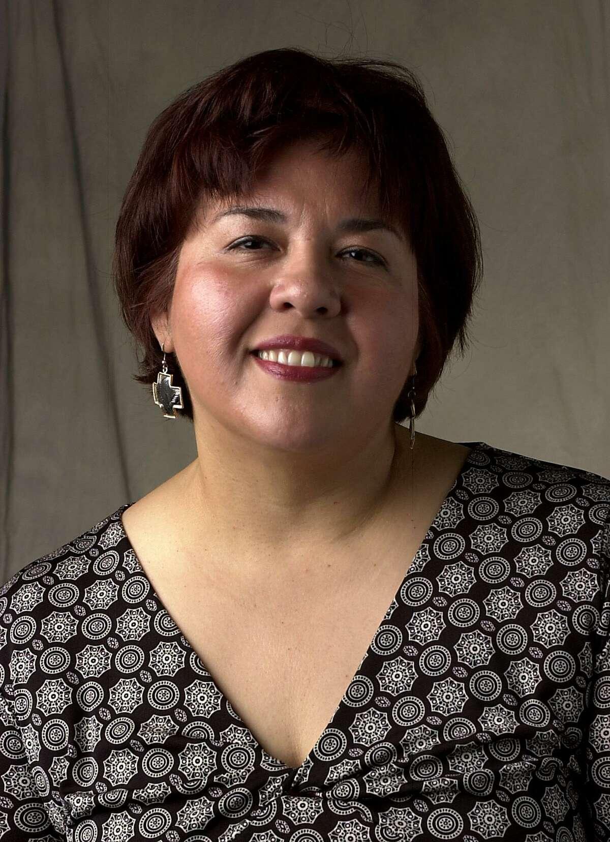 Photo of Elaine Ayala, Express-News employee. 9/28/04. Photo by Juanito Garza/Staff.