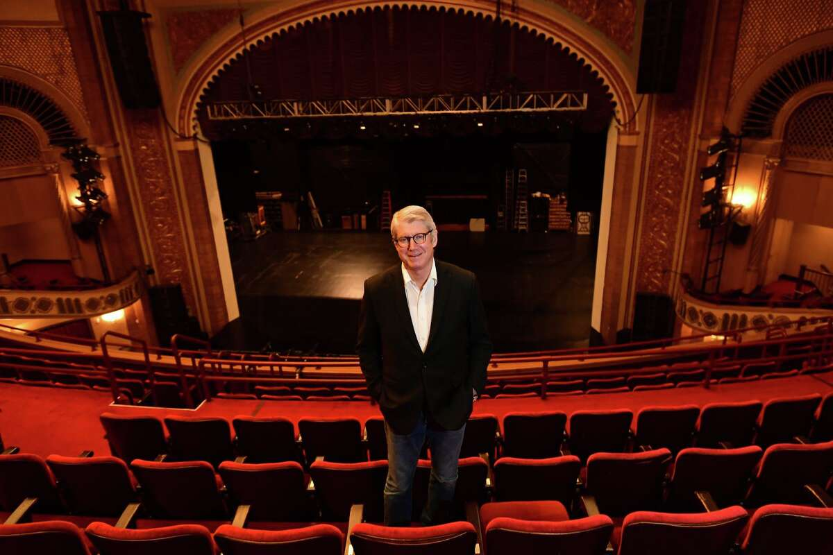 Michael Stern, Stamford Symphony music director Friday at the Palace Theatre in Stamford.