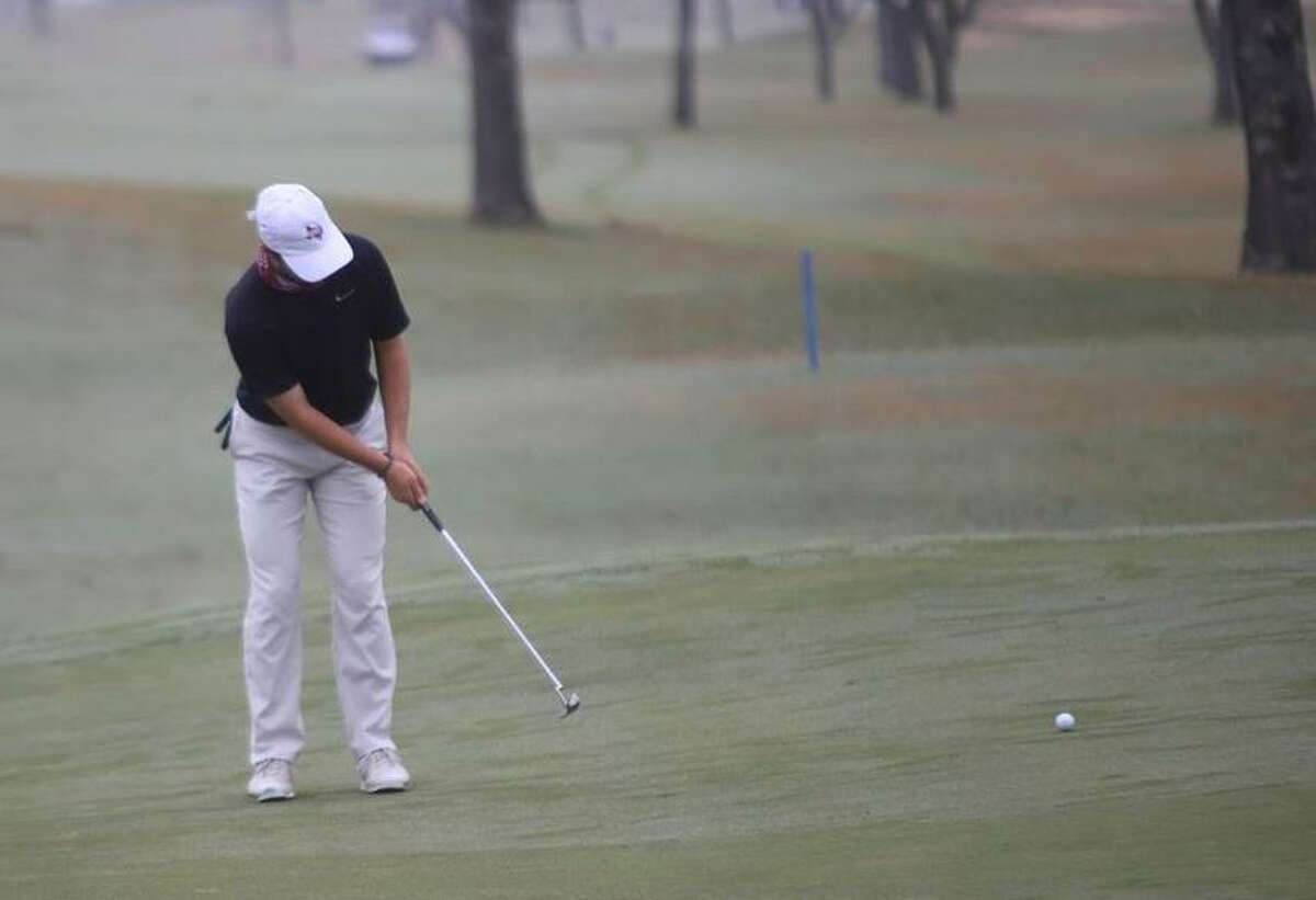 TAMIU senior Parker Holekamp fell from fourth to 72nd place after shooting a 14-over 86 Friday at the NCAA Division II South Central/West Super Regional in Dupont, Wash.