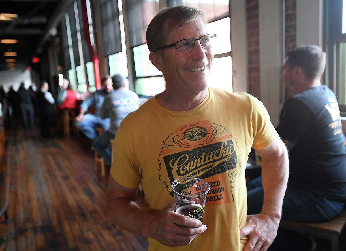 Two Roads Brewing Company founder and CEO Brad Hittle sees a positive trajectory for the brewery coming out of the pandemic in Stratford, Conn. on Thursday, May 6, 2021.