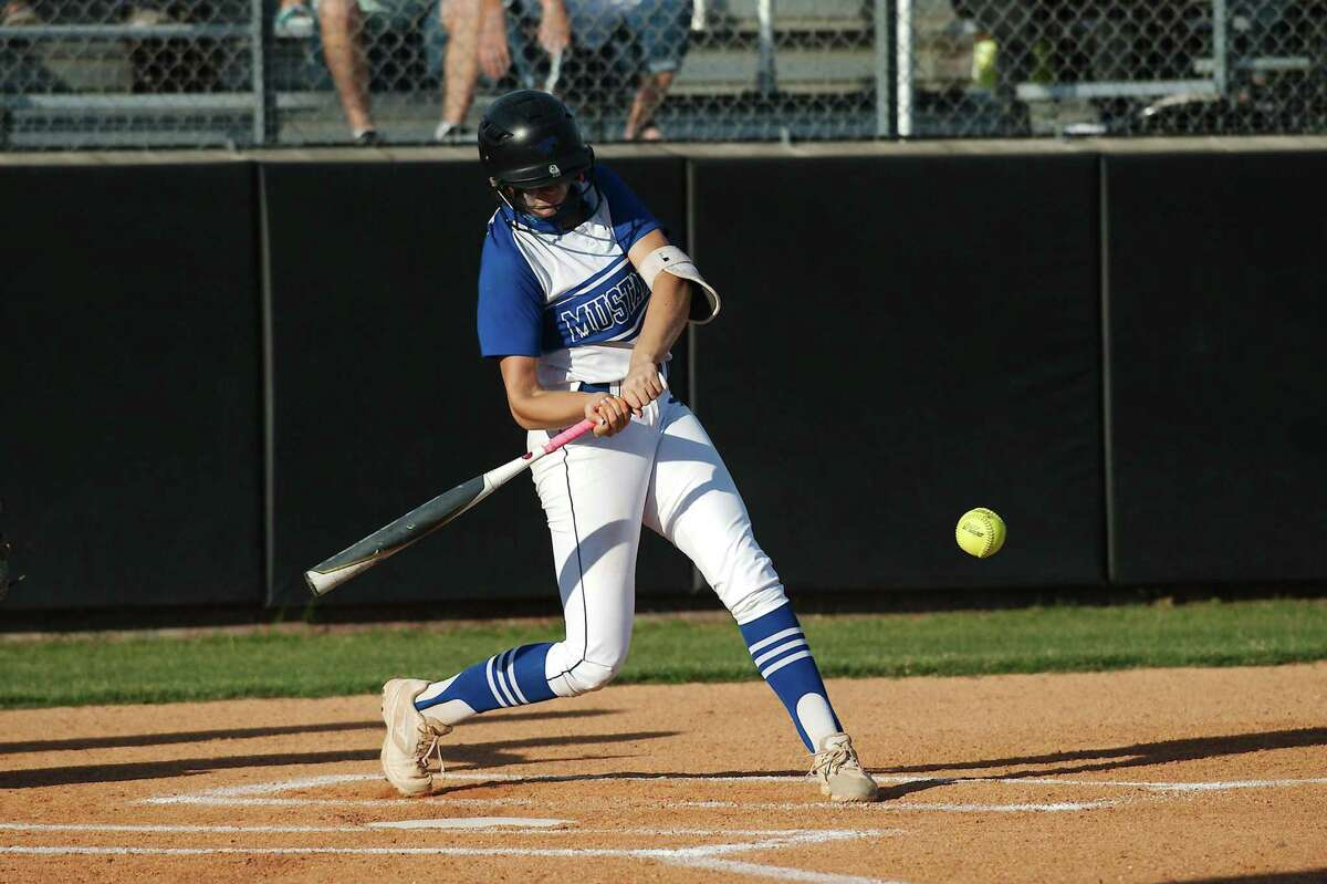 Friendswood's Patricia Yarotsky (6) bats against Lamar Consolidated Friday at Friendswood High School.