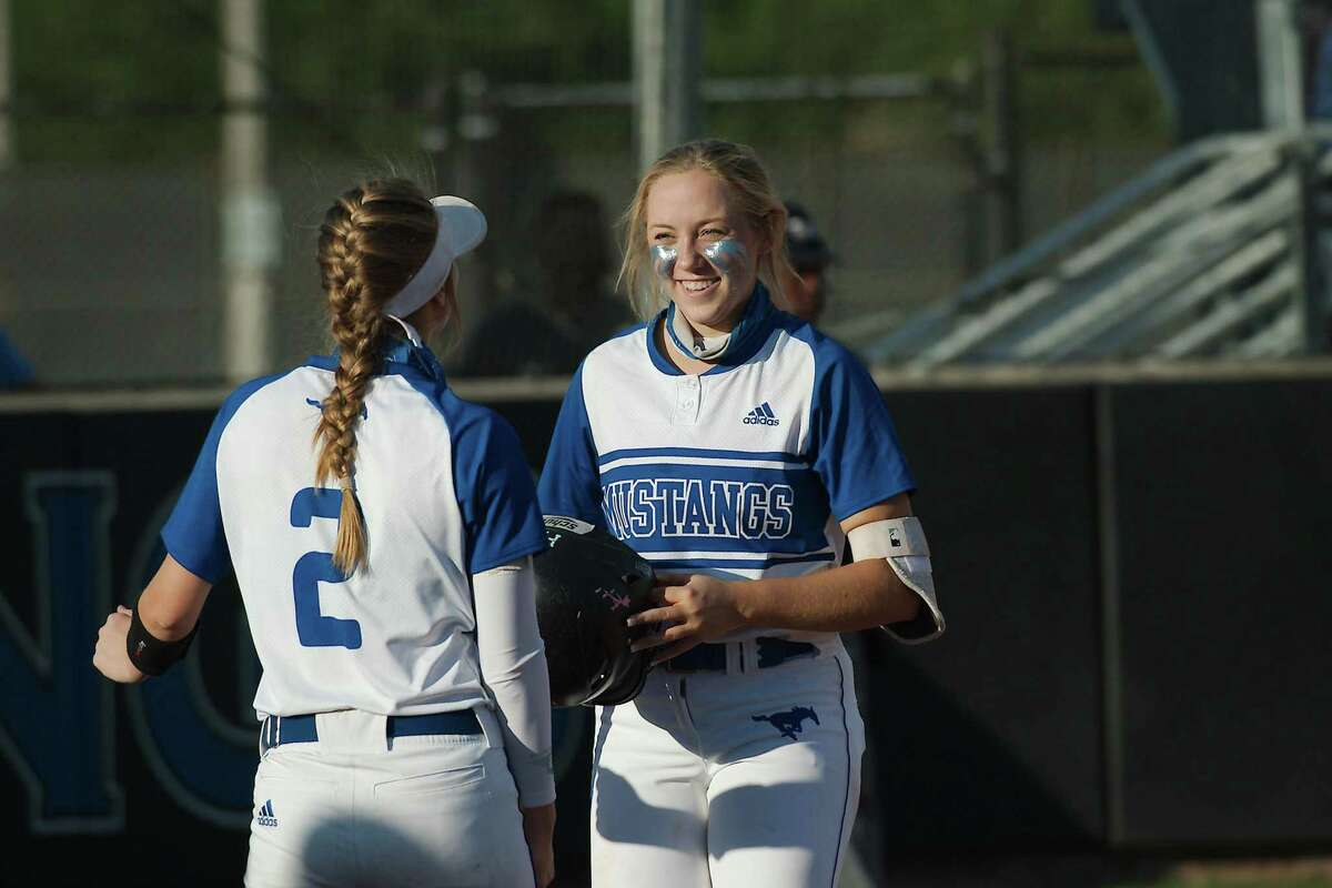 Friendswood's Patricia Yarotsky (right) has been named District 22-5A softball team co-most valuable player with Sidne Peters of Santa Fe.