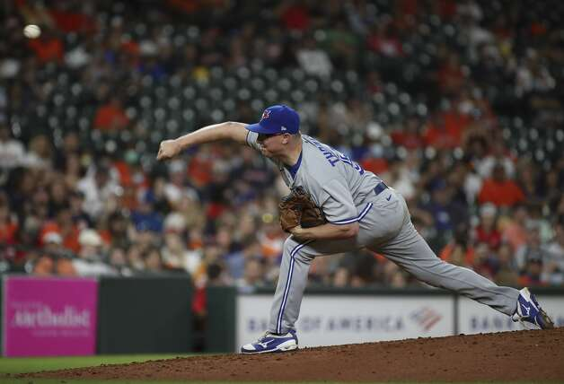 Toronto Blue Jays starting pitcher Trent Thornton (57) pitches during the seventh inning of an MLB game Friday, May 7, 2021, at Minute Maid Park in Houston. Photo: Jon Shapley/Staff Photographer / © 2021 Houston Chronicle