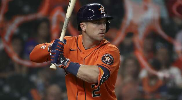 Houston Astros third baseman Alex Bregman (2) bats during the eighth inning of an MLB game Friday, May 7, 2021, at Minute Maid Park in Houston. Photo: Jon Shapley/Staff Photographer / © 2021 Houston Chronicle