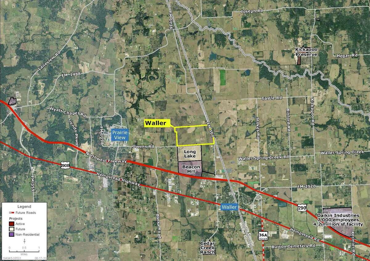 Partnering with builders HistoryMaker Homes, Chesmar Homes and Empire Communities, Bold Fox Development has closed on 470 acres in Waller for a new residential development.