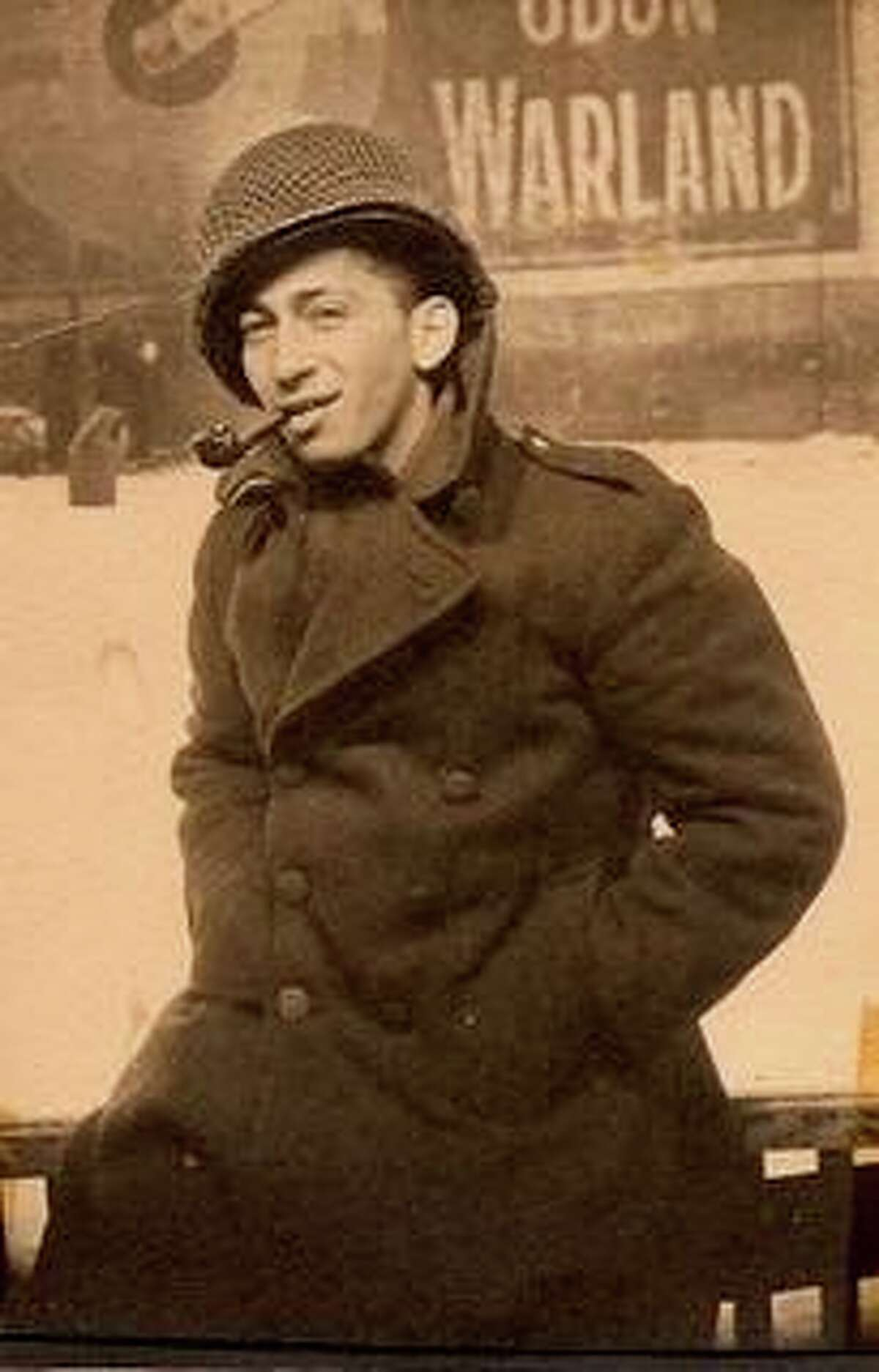 Geroge Mandel in Brussels after the Battle of the Bulge. Mandel, who died in February 2021 at age 101, is the uncle of Greenwich Time columnist David Rafferty.