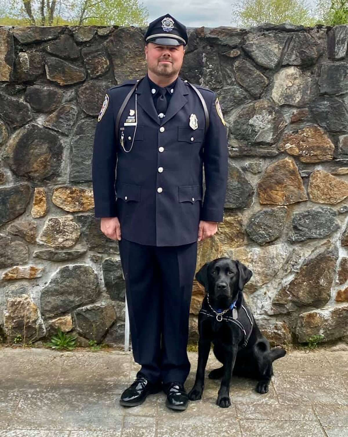 Pictured is Middletown Police Department Officer Jay Bodell and new K-9, Bear. Contributed by Middletown Police Facebook Page.