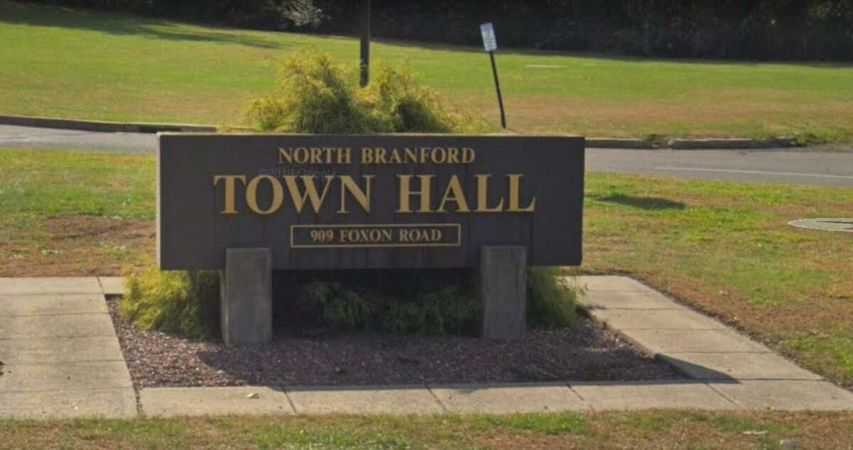North Branford Town Hall is located at 909 Foxon Road.