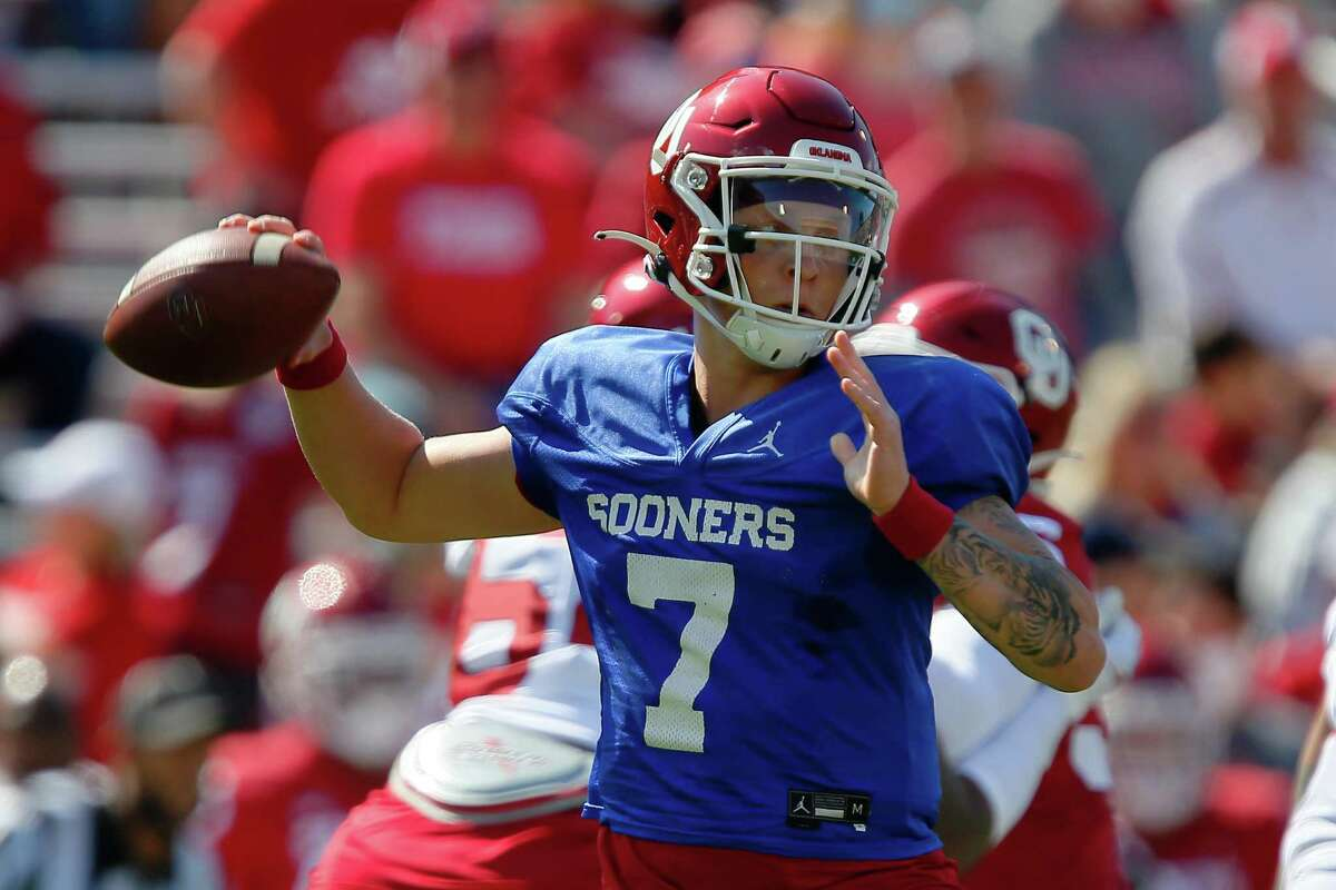 Oklahoma quarterback Spencer Rattler is among those projected as potential top NFL draft picks for 2022.