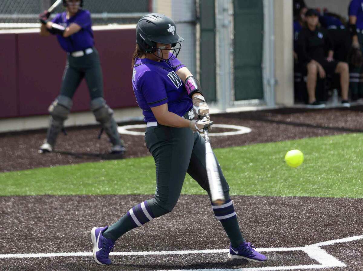 Kyndal Murphy #13 of Willis prepares to make contact with the ball during the third inning in Game 2 of a Region II-6A area playoff series against Cypress Woods at Cypress Woods High School, Saturday, May 8, 2021, in Cypress.