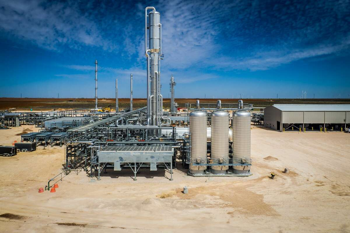 EnLink has taken steps to improve emissions performance at its facilities like the Riptide natural gas processing plant in Martin County as it strives for net zero emissions by 2050.
