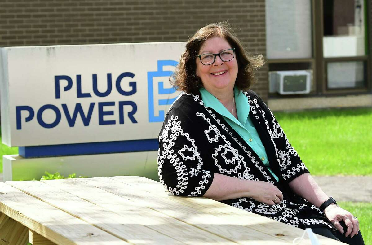 Maureen O. Helmer who served as the only woman on Plug Power's board for 16 years is seen outside Plug Power on Friday, May 7, 2021 in Latham N.Y. (Lori Van Buren/Times Union)