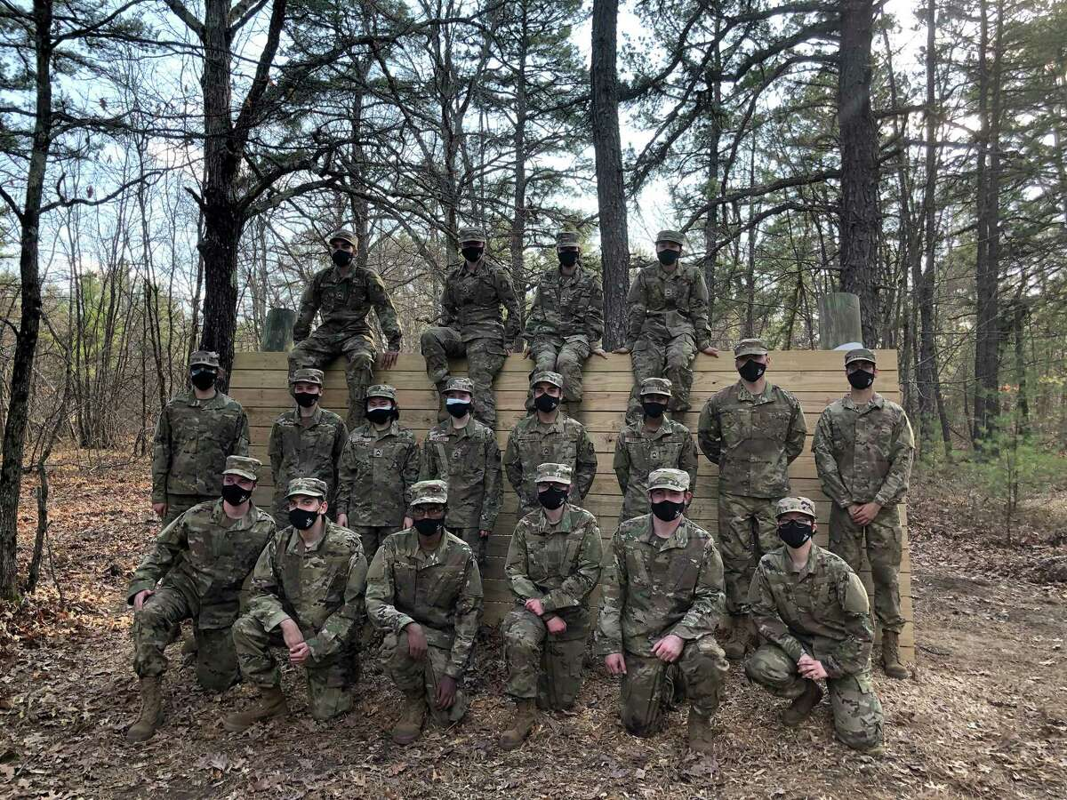 Members of Air Force ROTC Detachment 365 at Fort Devens, Mass., in April.