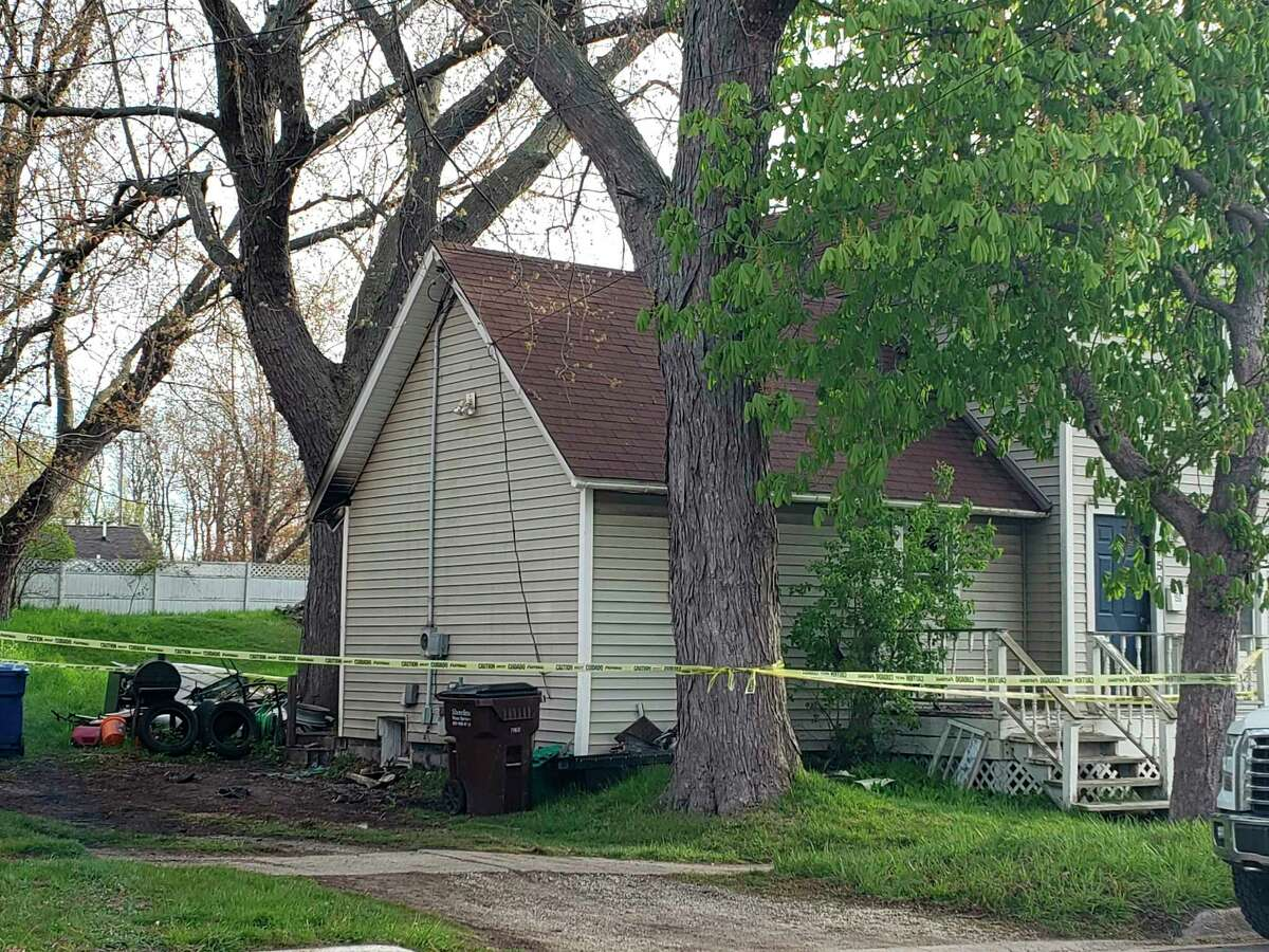 The City of Manistee Fire Department responded to a house fire at 8:15 p.m. on Saturday on Monroe Street in Manistee. (Arielle Breen/News Advocate)