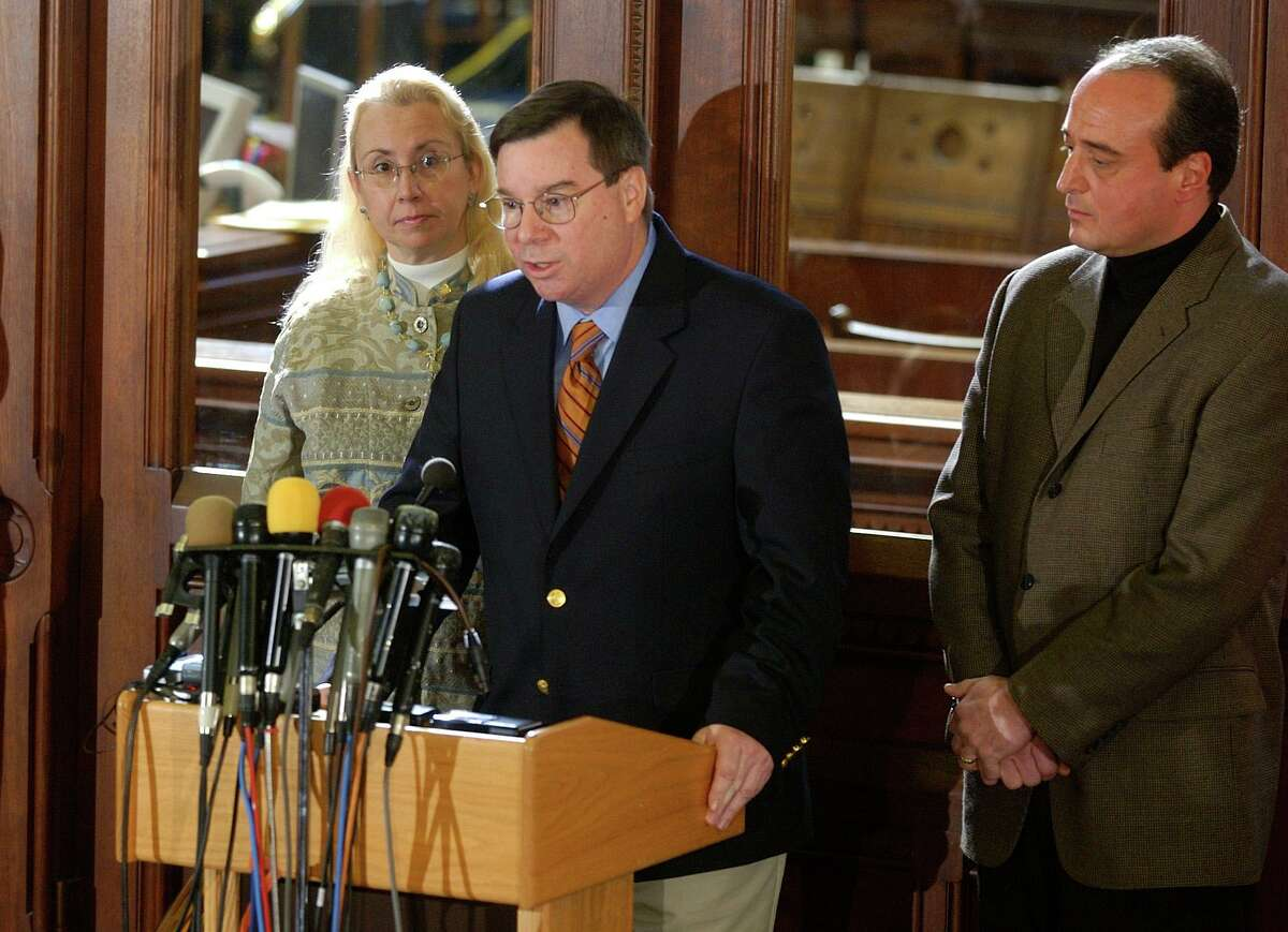 In January of 2004, then-Minority Leader Robert Ward of North Branford spoke to reporters about the investigation by House members that led to the resignation that summer of John G. Rowland, the disgraced governor who later served two sentences in federal prison.