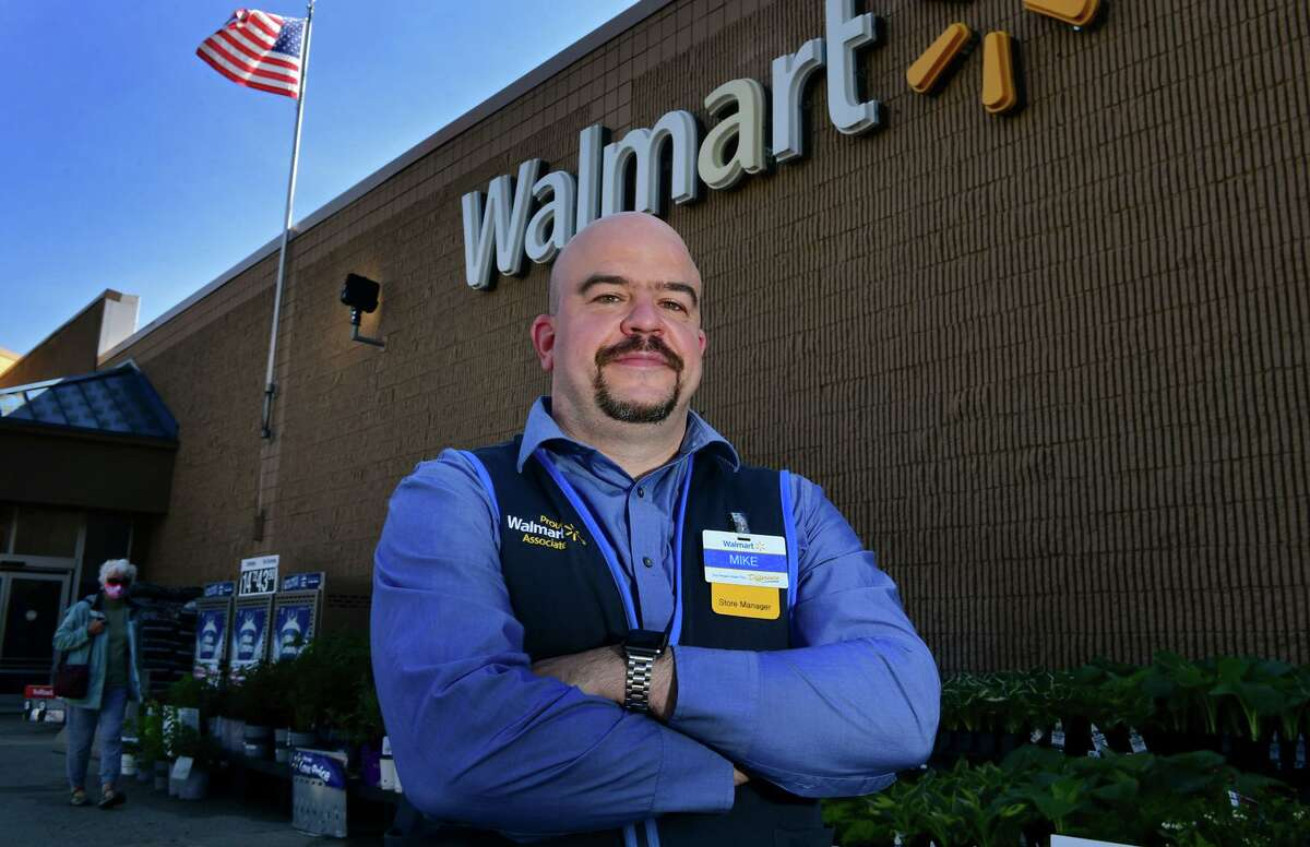 Walmart store manager Michael Rajotte at their Main Ave. store Friday, May 7, 2021, in Norwalk, Conn. Rajotte performed CPR and saved a customer's life after the man experienced a cardiac episode.