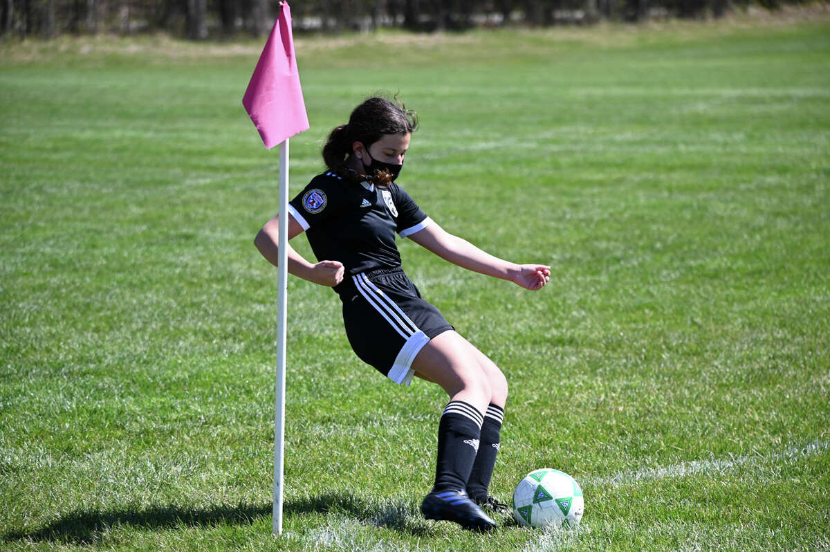 Local athletes compete in the Midland Fusion Mother's Day weekend soccer tournament on May 8, 2021 in Midland. (Adam Ferman/for the Daily News)