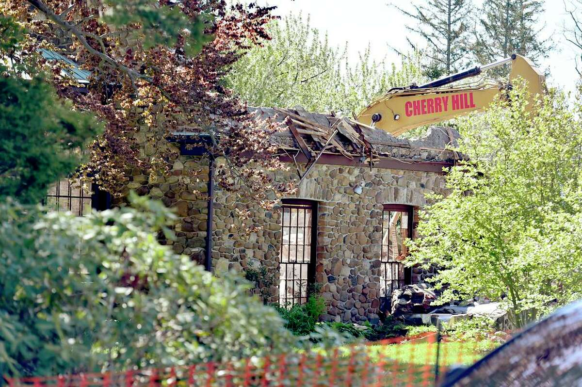 The historic mansion at 265 Pine Orchard Road was demolished May 7 in Branford.
