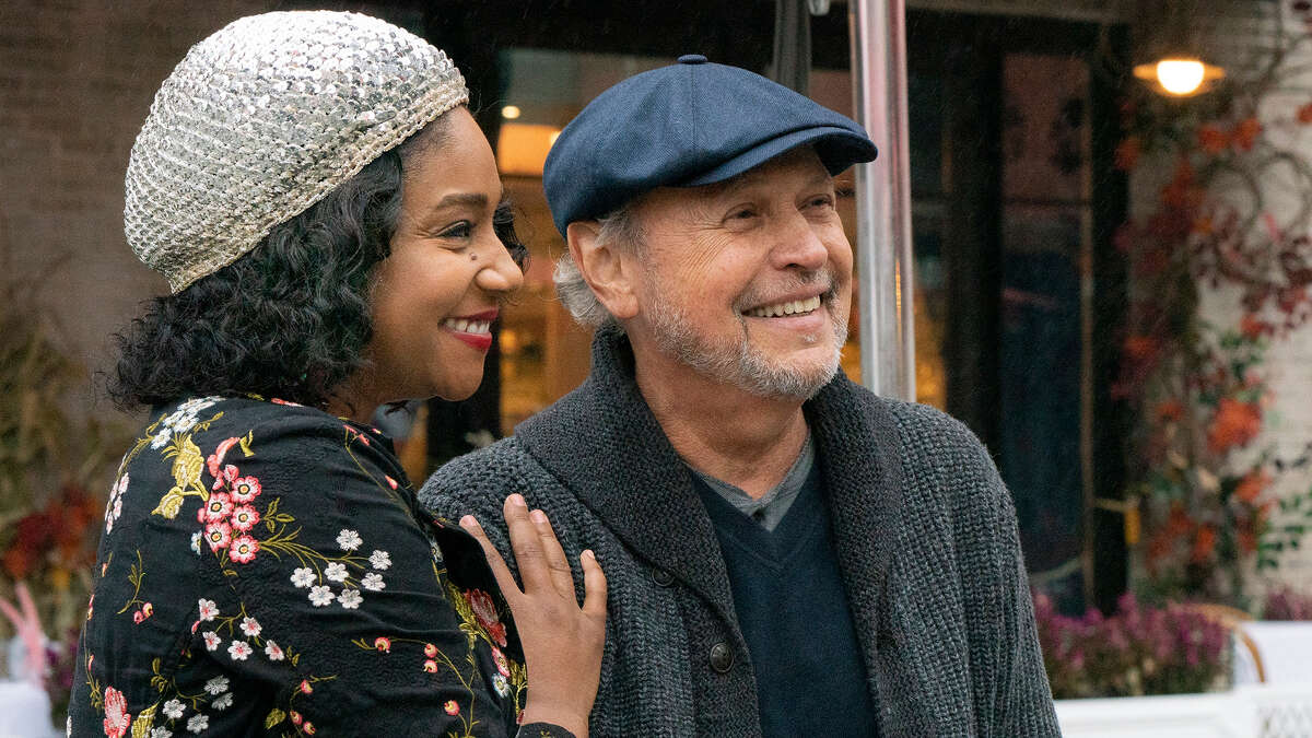 """Billy Crystal, right, directed and stars in the new release """"Here Today."""" He appears in the film alongside co-star Tiffany Haddish."""