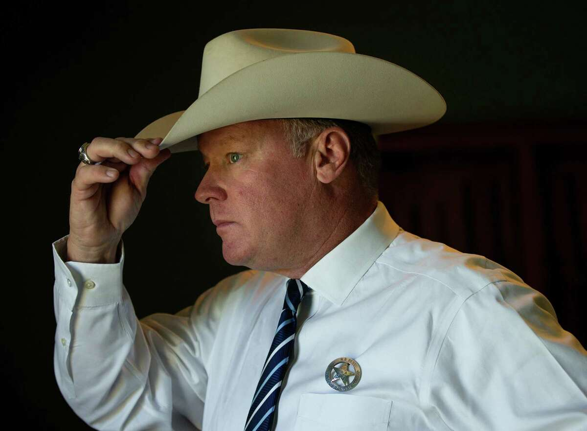 Texas Department of Public Safety ranger Brandon Bess inside his home on Friday, May 7, 2021, in Anahuac. Bess was involved in the investigation that led to the arrest of a suspect in a 26-year-old cold case - the murder of Beaumont resident Catherine Edwards.