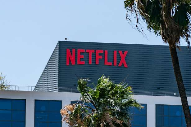 HOLLYWOOD, CA - MAY 06: General views of the Netflix corporate office buildings on Sunset Blvd on May 06, 2021 in Hollywood, California. (Photo by AaronP/Bauer-Griffin/GC Images)